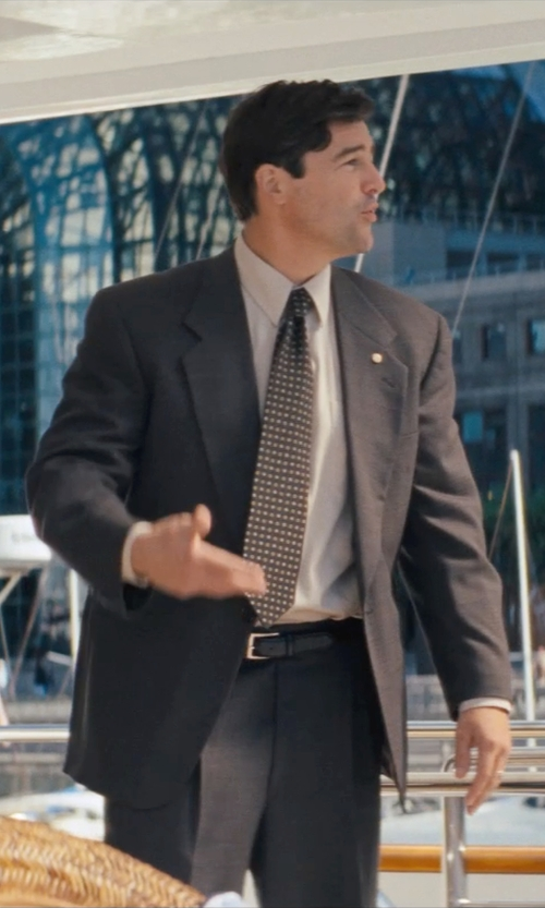 Kyle Chandler with BOSS HUGO BOSS Slim Fit Dress Shirt in The Wolf of Wall Street