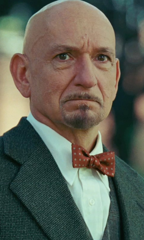 Ben Kingsley with Forzieri Polkdot Silk Self-tie Bowtie in Shutter Island