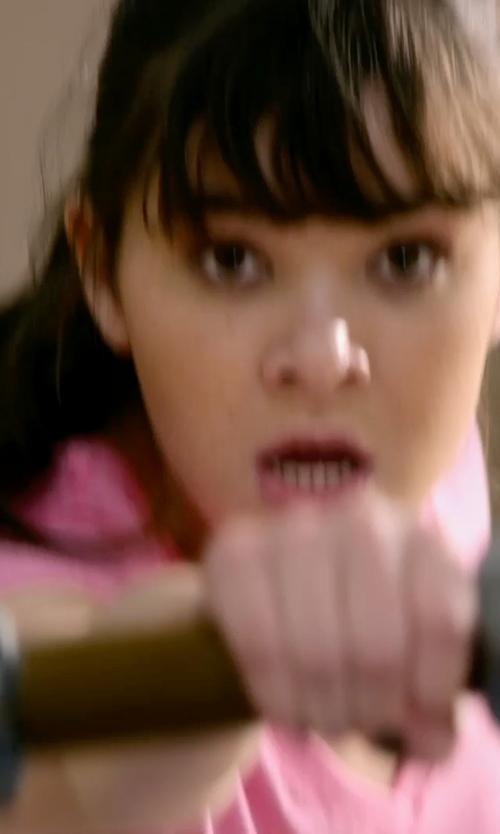 Hailee Steinfeld with Dylan Silky Slub T-Shirt in Barely Lethal