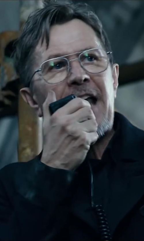 Gary Oldman with Randolph Engineering Aviator Frame Eyeglass in Dawn of the Planet of the Apes