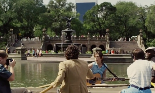 Keira Knightley with Bethesda Terrace and Fountain New York City, New York in Begin Again