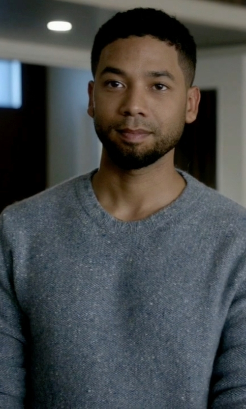 Jussie Smollett with Hardy Amies Cashmere Sweater in Empire