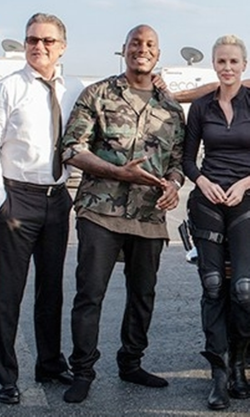 Tyrese Gibson with PRPS Selvedge Straight-Leg Jeans in The Fate of the Furious
