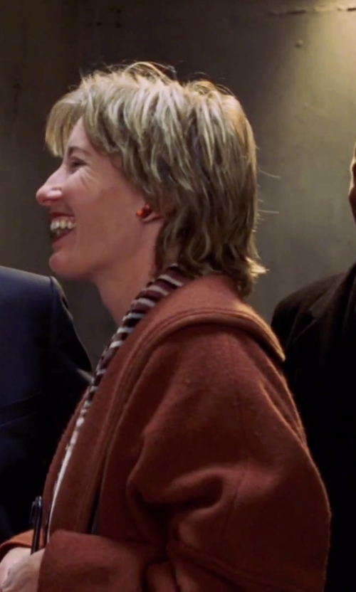 Emma Thompson with Shanmou Double Breasted Wool Winter Coat in Love Actually