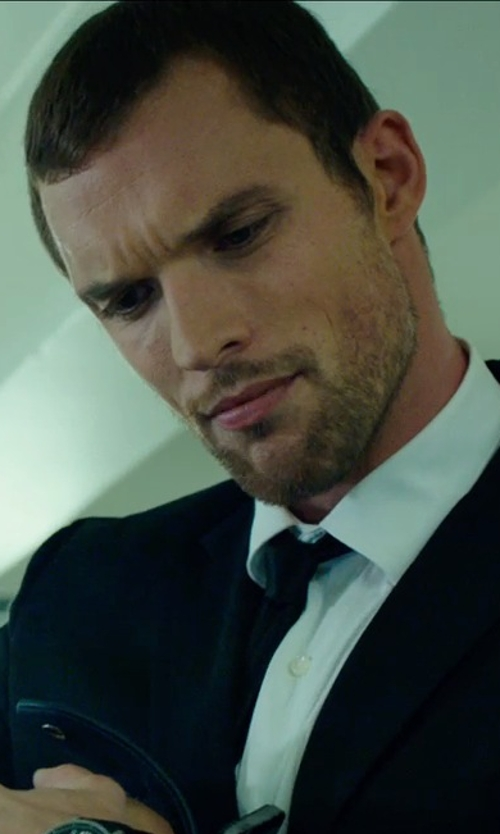 Ed Skrein with Burberry Silk Tie in The Transporter: Refueled