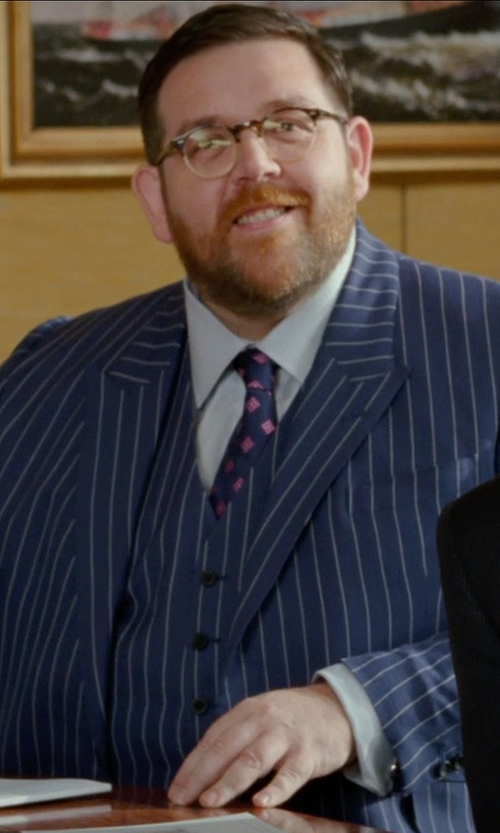 Nick Frost  with Boss Hugo Boss Gregory Easy Iron Dress Shirt in Unfinished Business