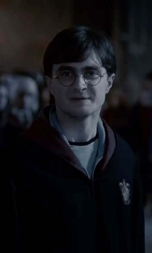 Daniel Radcliffe with All Saints Shadow Long Sleeve Crew Neck Shirt in Harry Potter and the Deathly Hallows: Part 2