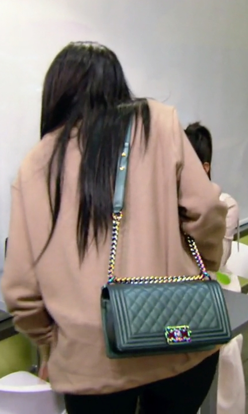 Kylie Jenner with Chanel  Boy Bag in Keeping Up With The Kardashians