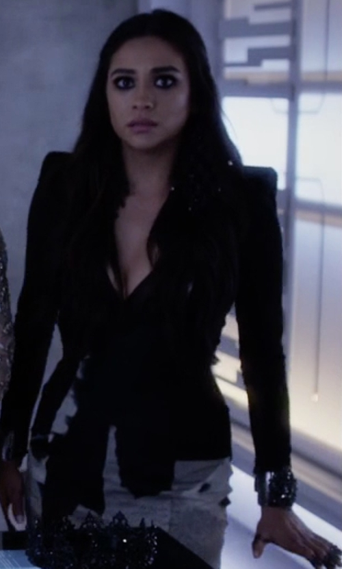 Shay Mitchell with Marianna Harutunian Power Cuff Bracelet in Pretty Little Liars