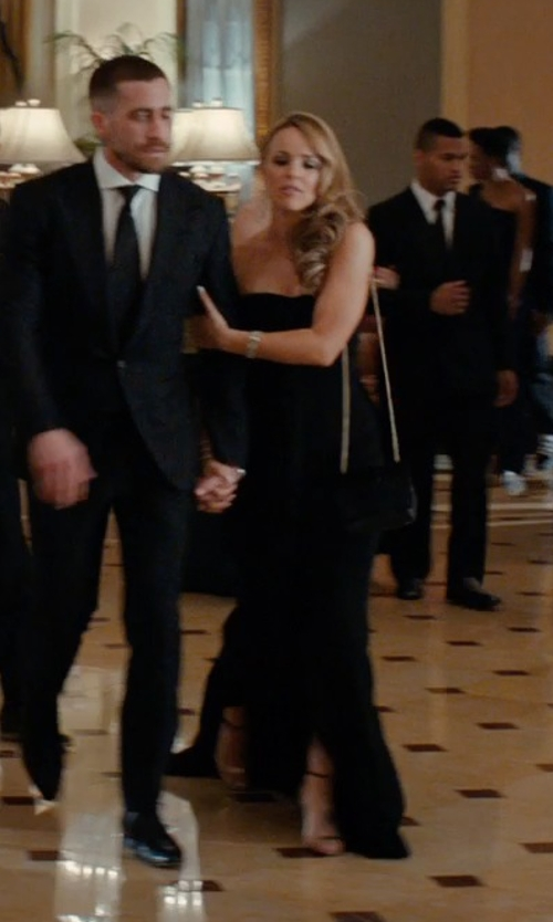 Rachel McAdams with Gorgeous Bridal Chic High Slit Chiffon Sweetheart Long Dress in Southpaw