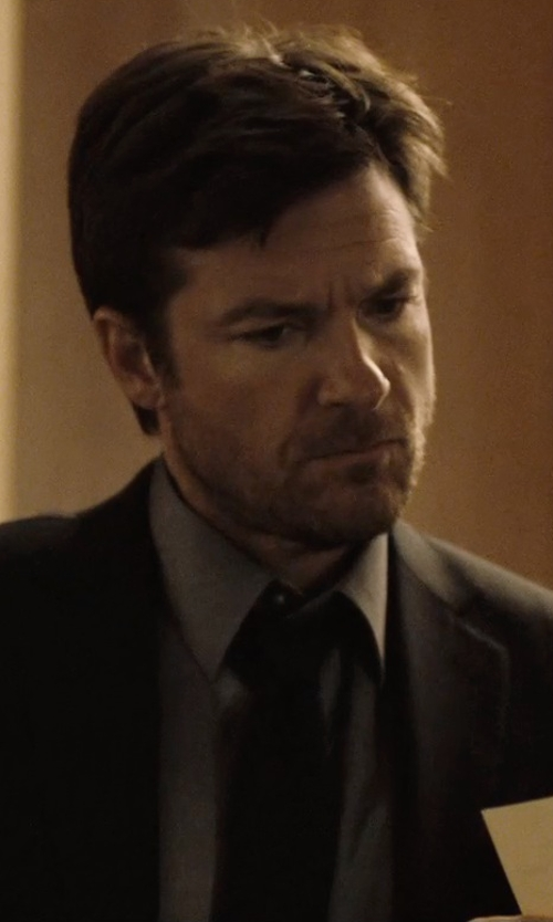 Jason Bateman with Brioni	 Solid Silk Satin Tie in The Gift