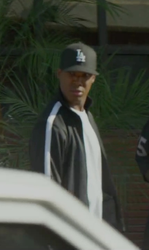 Corey Hawkins with Adidas Men's Tricot Full Zip Track Jacket in Straight Outta Compton