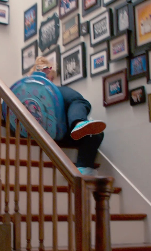 Rebel Wilson with Slippery Racer Downhill Saucer Disc Sled in Pitch Perfect 2