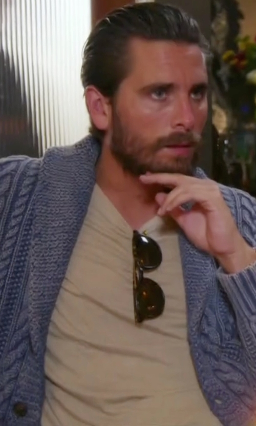 Scott Disick with John Elliott Washed Classic Crew Shirt in Keeping Up With The Kardashians
