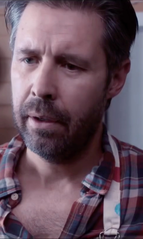 Paddy Considine with Grayers 'Heather Poplin' Trim Fit Tartan Plaid Sport Shirt in Miss You Already