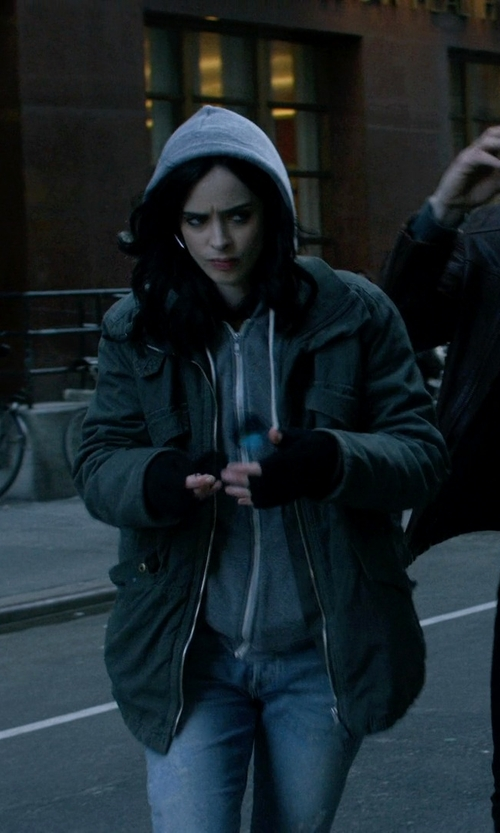 Krysten Ritter with Lucky Brand Core Military Jacket in Jessica Jones