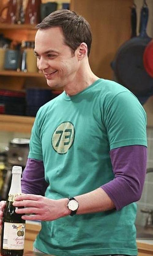 Jim Parsons with Dressdown 73 Logo T-Shirt in The Big Bang Theory