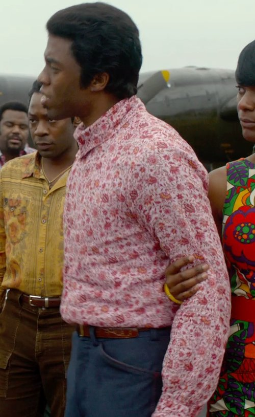 Chadwick Boseman with Theory Marlo Trousers in Get On Up