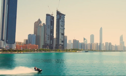 Unknown Actor with Corniche Beach Abu Dhabi, United Arab Emirates in Furious 7