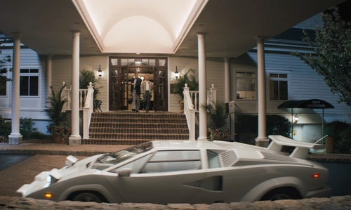 Leonardo DiCaprio with Lamborghini Countach in The Wolf of Wall Street