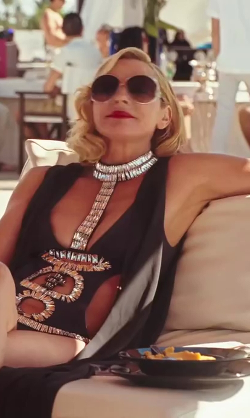 Kim Cattrall with Roberto Cavalli Corniola Fashion Sunglasses in Sex and the City 2