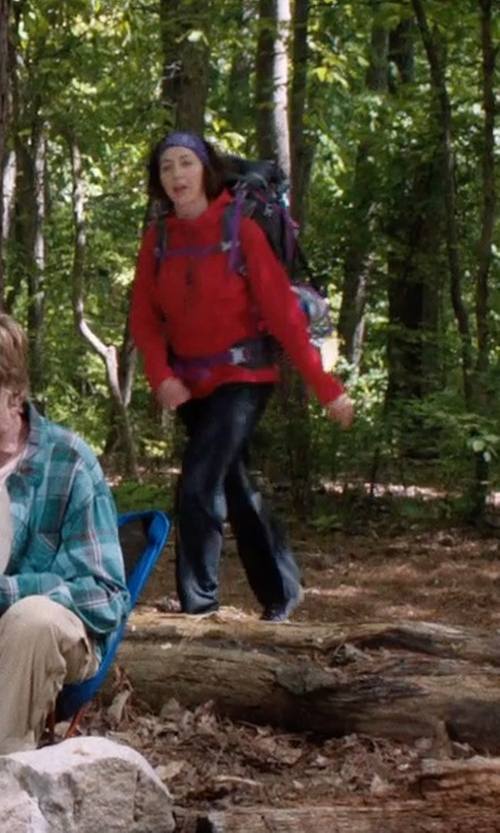 Kristen Schaal with Eddie Bauer Rainier Storm Shell Pants in A Walk in the Woods