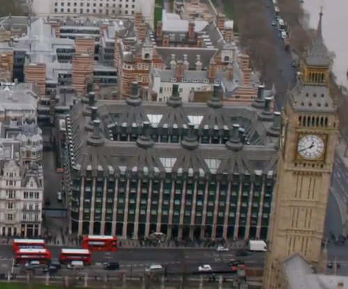Unknown Actor with Portcullis House London, United Kingdom in London Has Fallen