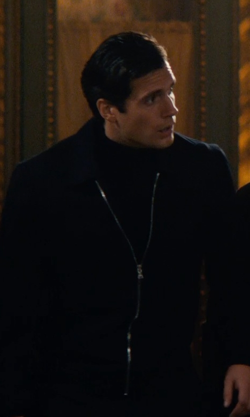 Henry Cavill with Timothy Everest Custom Made Windbreaker Jacket in The Man from U.N.C.L.E.
