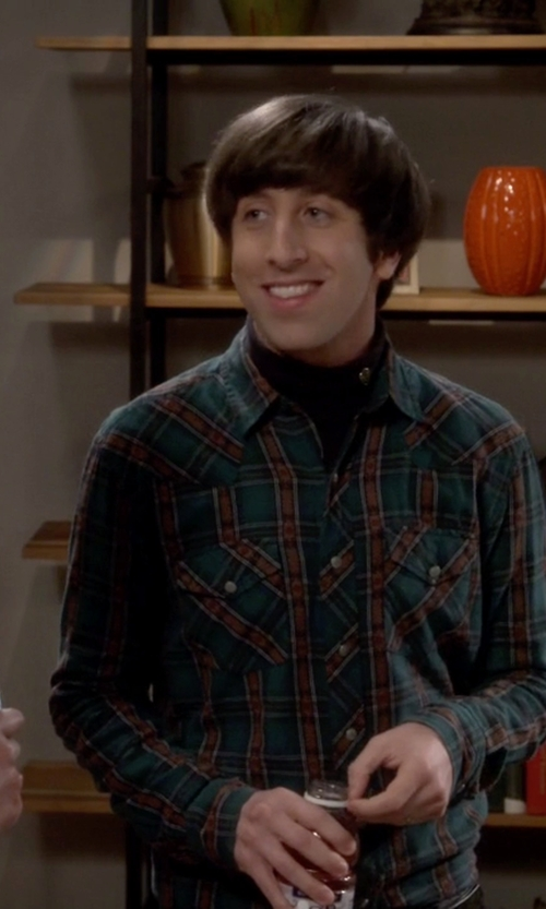 Simon Helberg with Salt Valley Carver Western Shirt in The Big Bang Theory