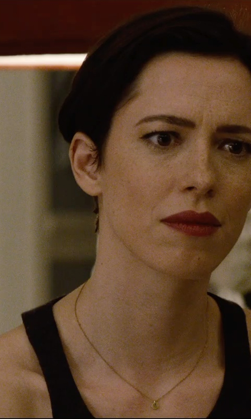 Rebecca Hall with Givenchy Medallion Gold-Tone Necklace in The Gift
