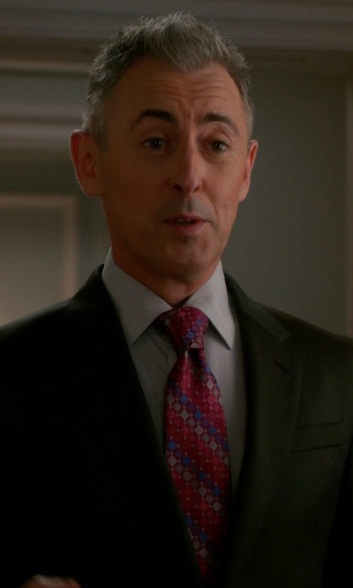 Alan Cumming with Ermenegildo Zegna Diagonal-Striped Necktie in The Good Wife