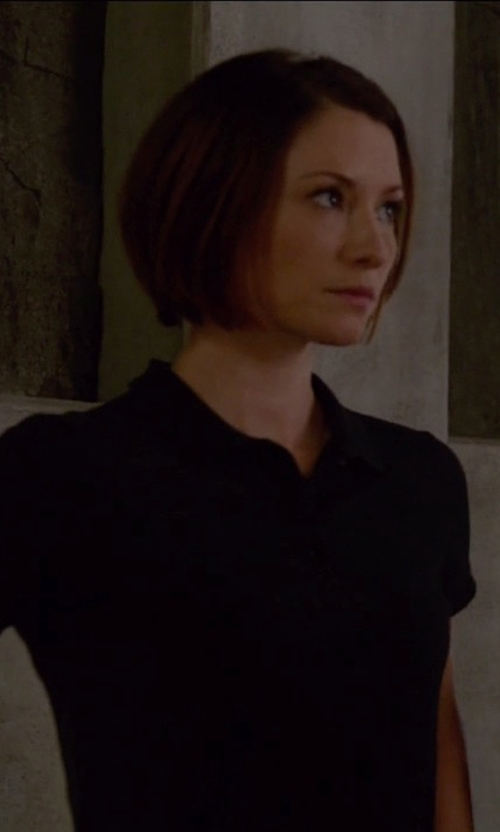 Chyler Leigh with Lacoste Classic Fit Pique Polo Shirt in Supergirl
