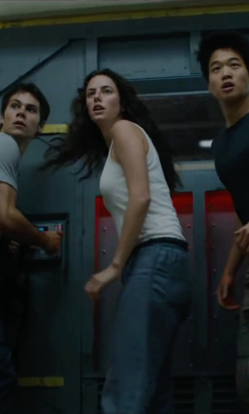 Kaya Scodelario with Rag & Bone/JEAN The Classic Beater Tank Top in Maze Runner: The Scorch Trials