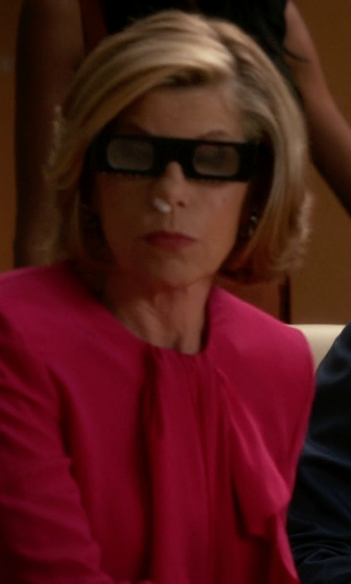 Christine Baranski with Tamara Mellon Cut Out Blouse in The Good Wife