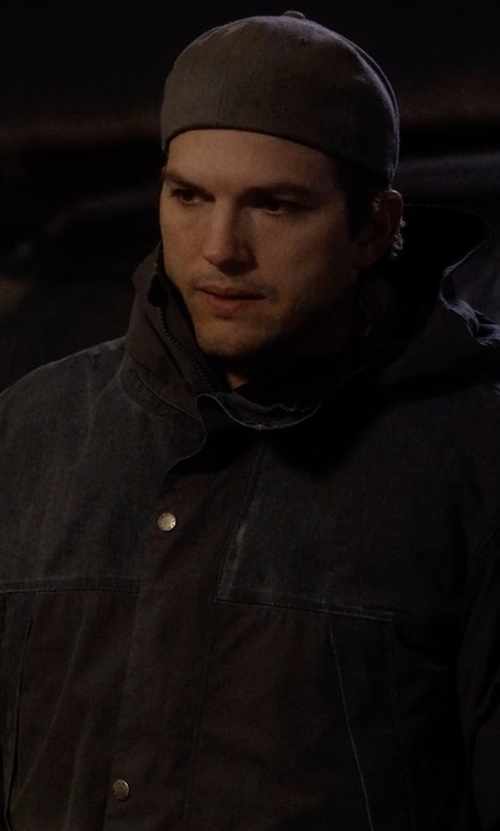 Ashton Kutcher with Belstaff Ravenswood Hooded Jacket in The Ranch