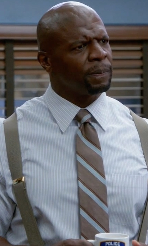 Terry Crews with Jos. A. Bank Joseph Slim Satin Thin Stripe Tie in Brooklyn Nine-Nine