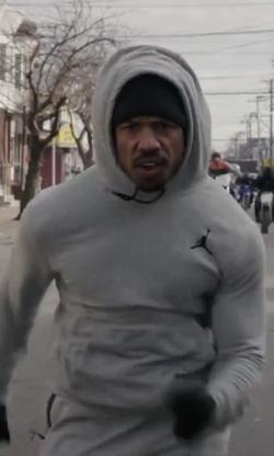 Michael B. Jordan with Jordan All-Around Pullover Hoodie in Creed