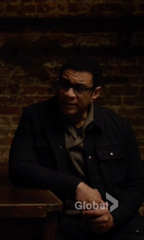 Harry Lennix with Marc by Marc Jacobs Brushed Cotton Shirt Jacket in The Blacklist