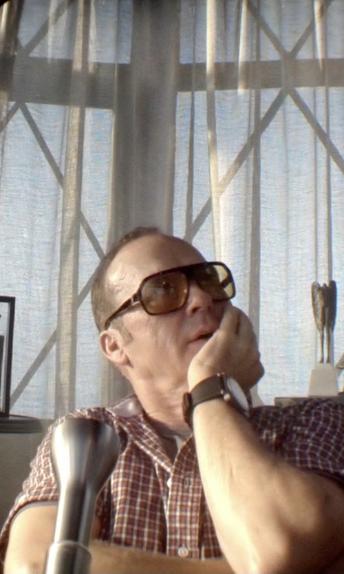 Michael Keaton with AX Armani Exchange Leather Strap Watch in Need for Speed