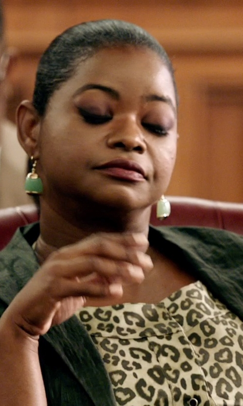 Octavia Spencer with Charlene K Chalcedony Earrings in Black or White