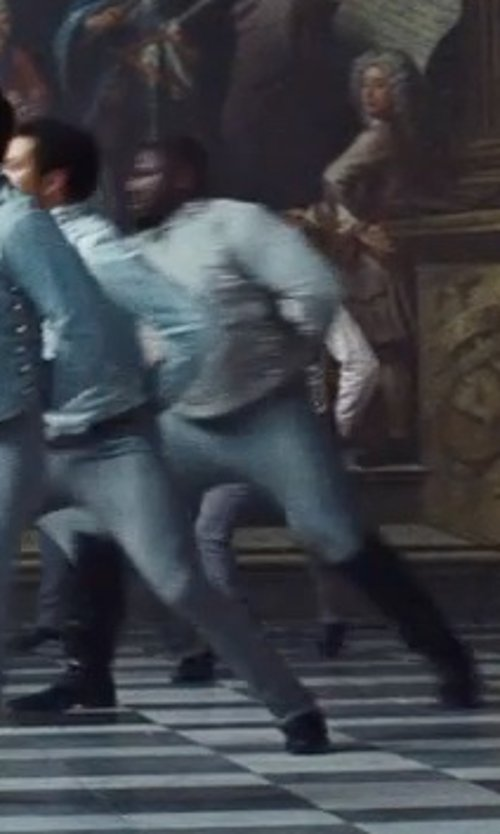 Nonso Anozie with Sandy Powell (Costume Designer) Custom Made Fencing Pants (Captain) in Cinderella