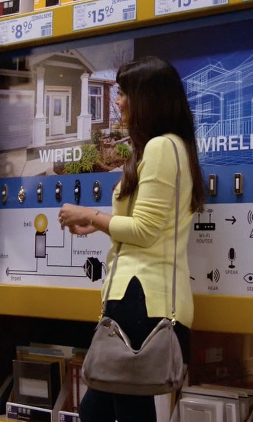 Hannah Simone with MZ Wallace Pippa Bedford Crossbody Bag in New Girl