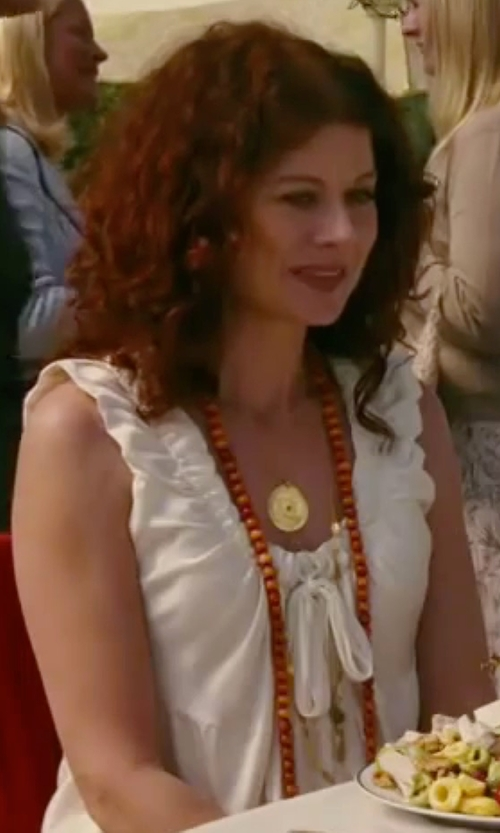 Debra Messing with Forte Forte V-Neck Sleeveless Top in The Women