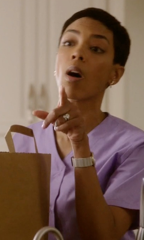Jazmyn Simon with Kohl's Round-Cut Diamond Solitaire Engagement Ring in Ballers