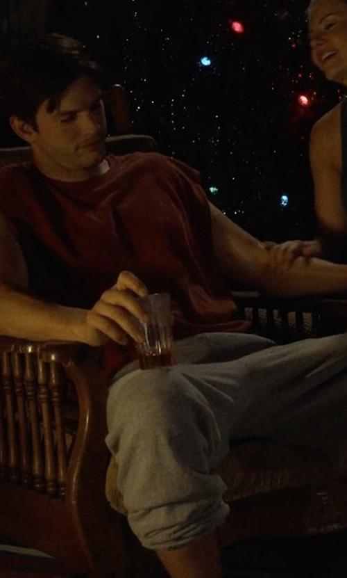 Ashton Kutcher with Alexander Wang Vintage Fleece Sweatpants in The Ranch