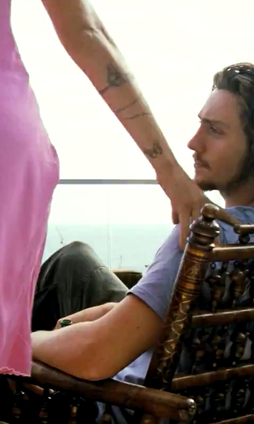Aaron Taylor-Johnson with Thomas Hayes Gallery Beautiful Brazilian Rosewood Reclining Slatted Lounge Chair in Savages