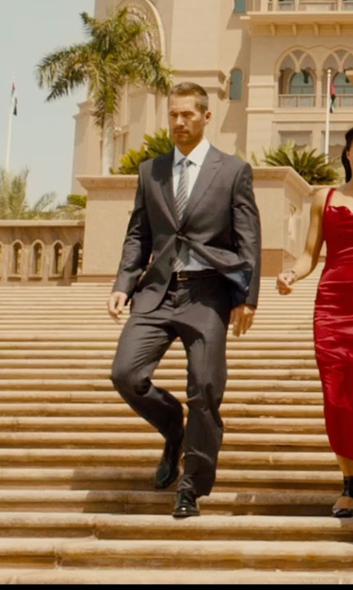 Paul Walker with John Lobb Darby Ii Leather Brogues Oxford Shoes in Furious 7