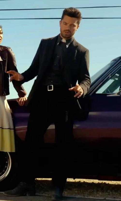 Dominic Cooper with Cole Haan Grantland Waterproof Chelsea Boots in Preacher