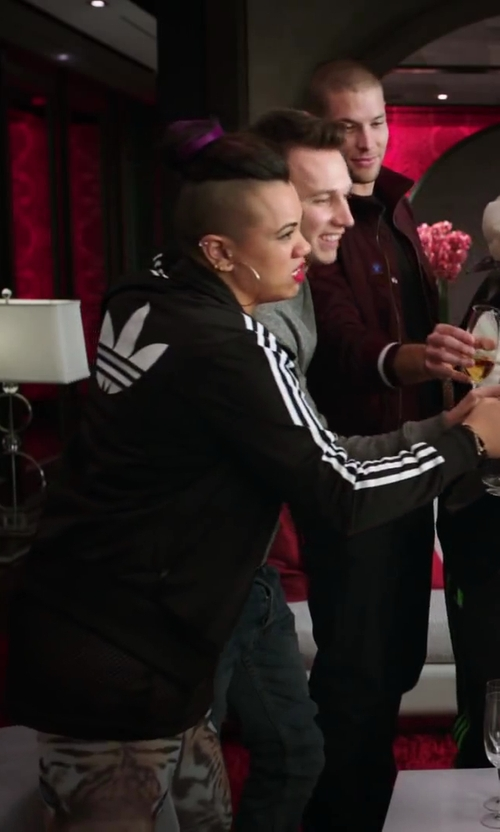 Parris Goebel with Adidas Originals Firebird Track Top in Step Up: All In