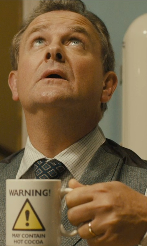 Hugh Bonneville with Macy's 14k Gold Ring Wedding Band in Paddington